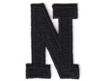 N Applique Black