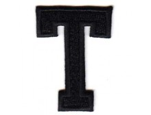 T Applique Black