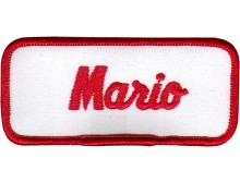 Mario Patch (Red and White)