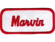 Marvin Patch (Red and White)