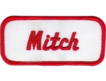 Mitch Patch (Red and White)