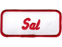 Sal Patch (Red and White)