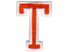 T Applique Orange And White
