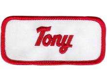 Tony Patch (Red and White)
