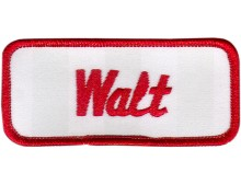 Walt Patch (Red and White)