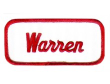 Warren Patch (Red and White)