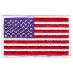 American Flag Patch (White Border) 4 x 2.5